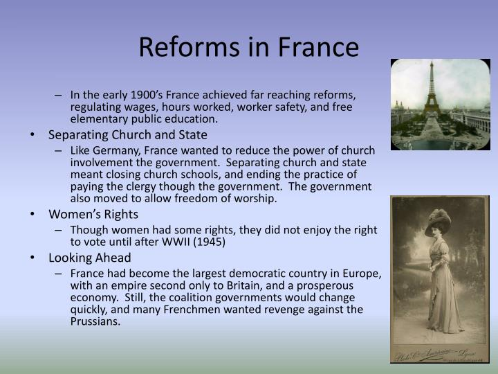 Reforms in France