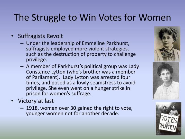 The Struggle to Win Votes for Women