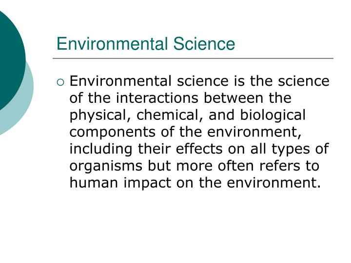 Environmental science1