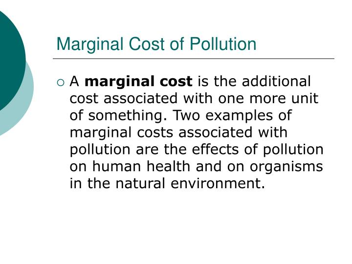 Marginal Cost of Pollution
