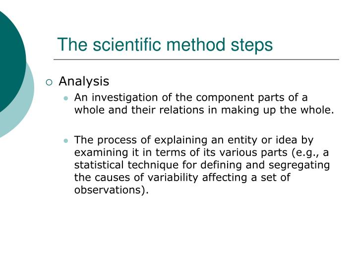 The scientific method steps