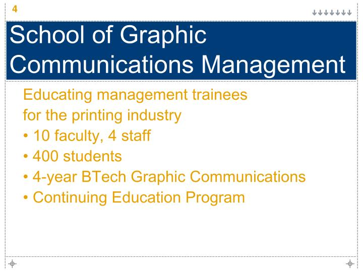 School of Graphic Communications Management