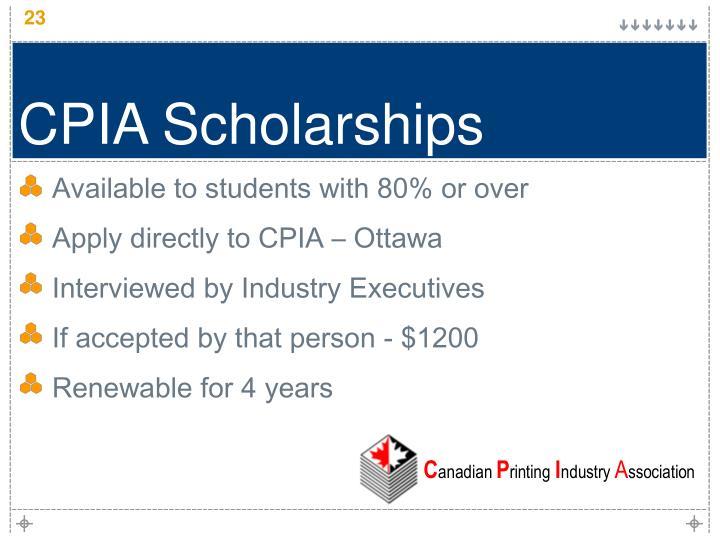 CPIA Scholarships