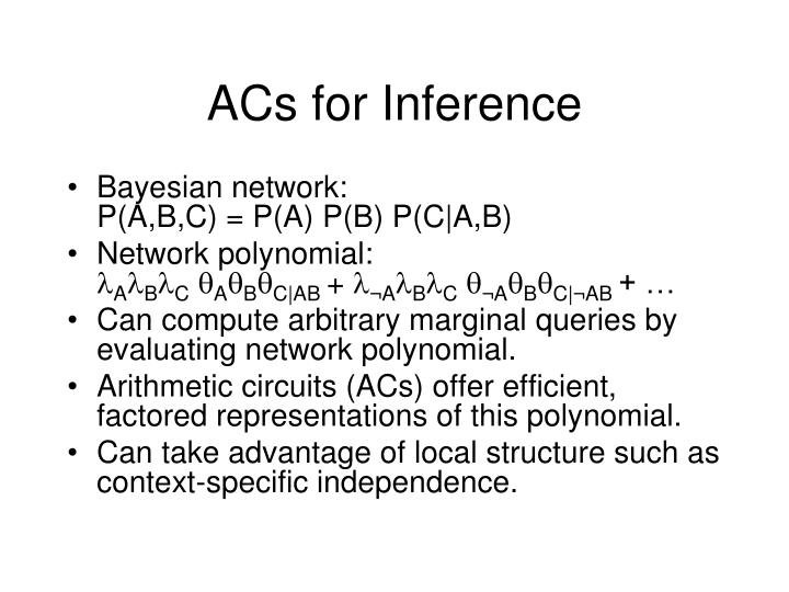 ACs for Inference