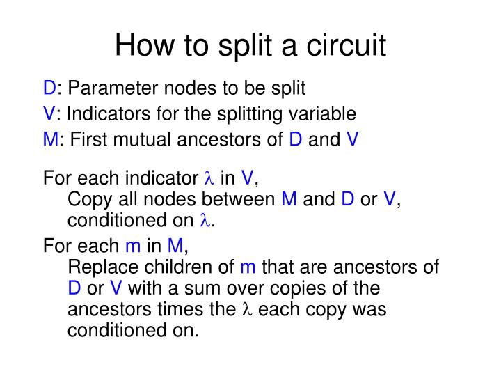 How to split a circuit