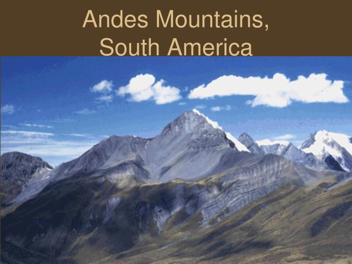 Andes Mountains,