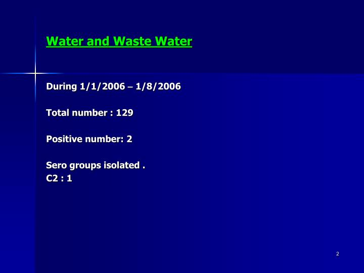 Water and Waste Water
