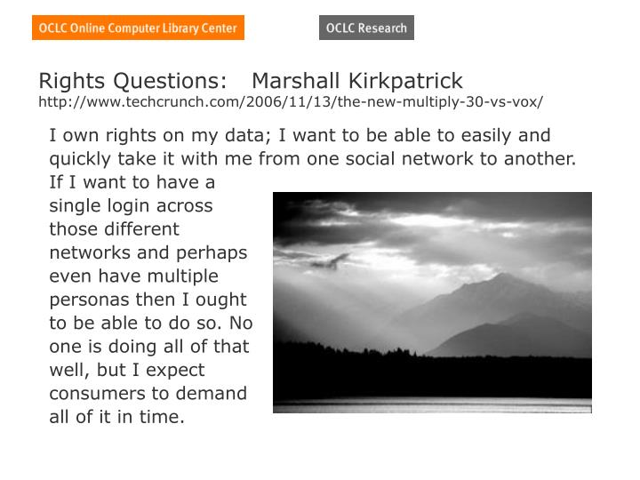 Rights Questions:   Marshall Kirkpatrick