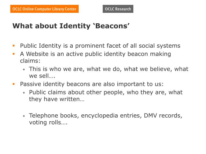 What about Identity 'Beacons'