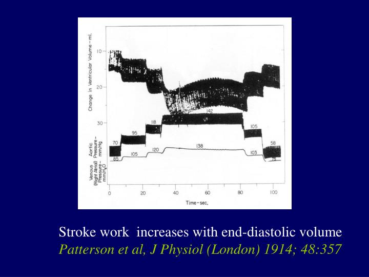 Stroke work  increases with end-diastolic volume