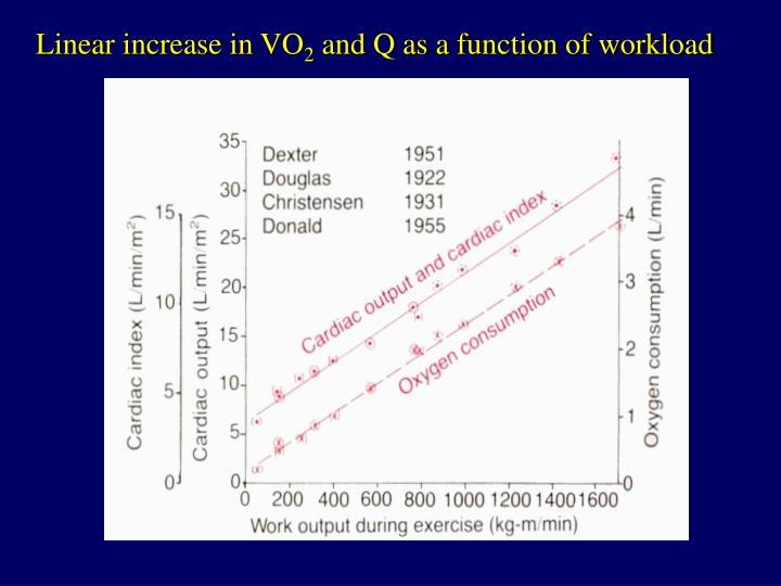 Linear increase in VO