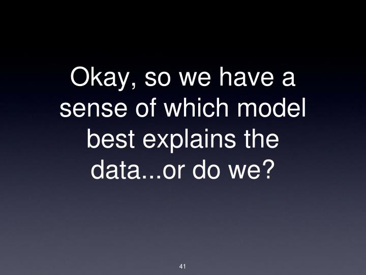 Okay, so we have a sense of which model best explains the data...or do we?