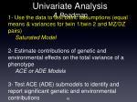 univariate analysis a roadmap