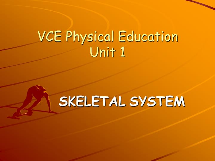 Vce physical education unit 1