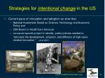 strategies for intentional change in the us