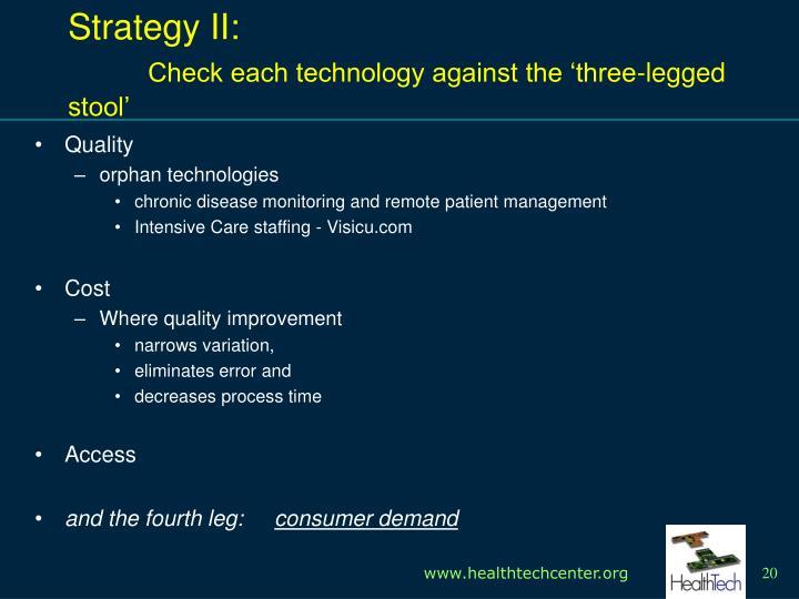 Strategy II: