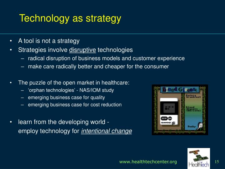 Technology as strategy