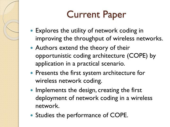 Current Paper