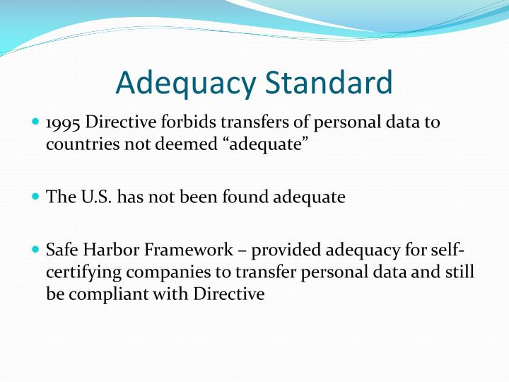 Adequacy Standard