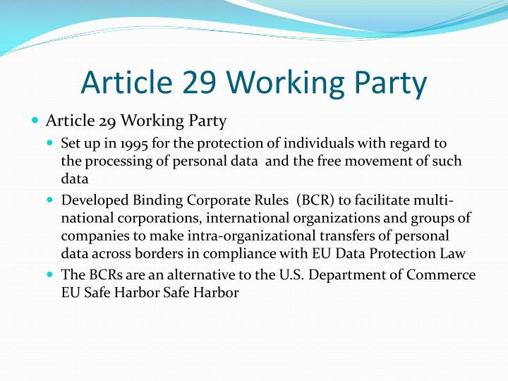 Article 29 Working Party