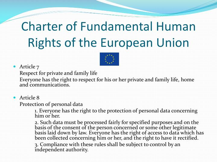 Charter of Fundamental Human Rights of the European Union