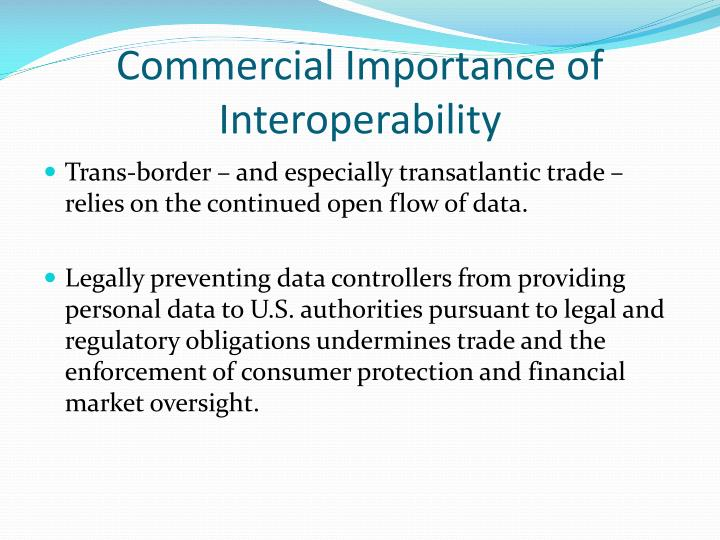Commercial Importance of Interoperability
