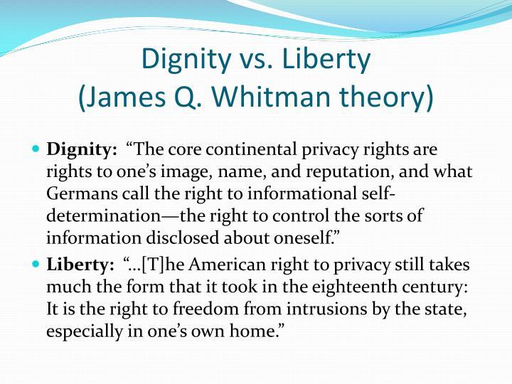 Dignity vs. Liberty