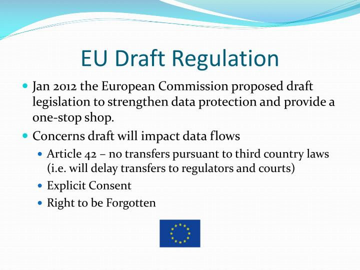 EU Draft Regulation