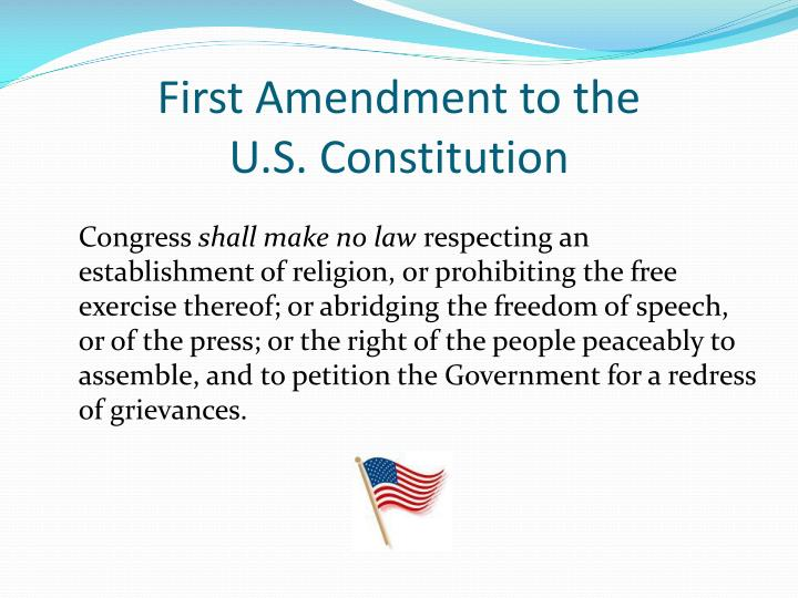 First Amendment to the