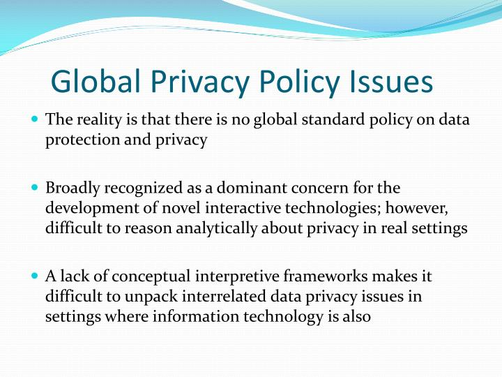 Global Privacy Policy Issues