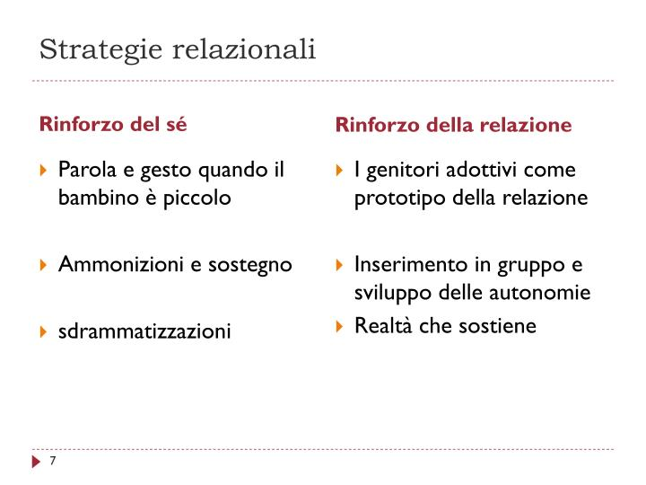 Strategie relazionali