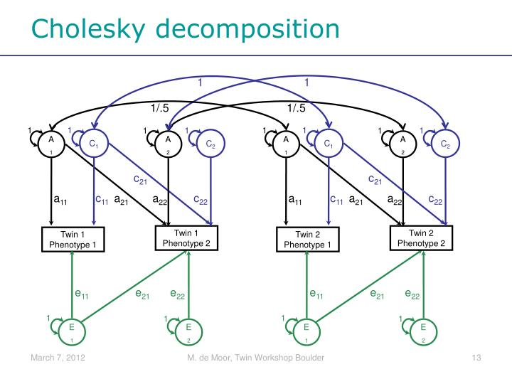 Cholesky decomposition