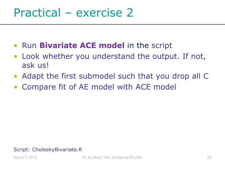 Practical –
