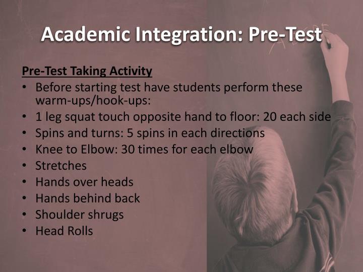 Academic Integration: Pre-Test
