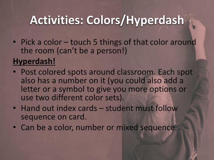 Activities: Colors/
