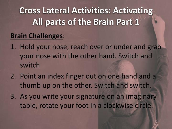 Cross Lateral Activities: Activating
