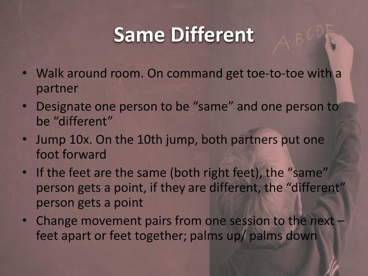 Same Different