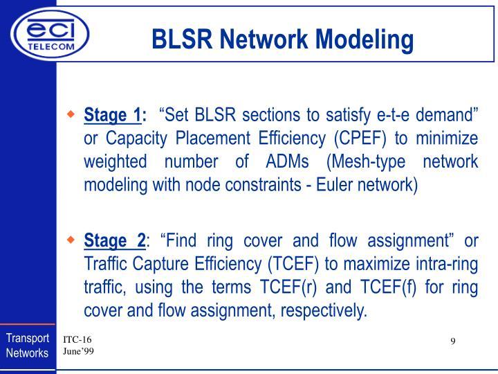 BLSR Network Modeling
