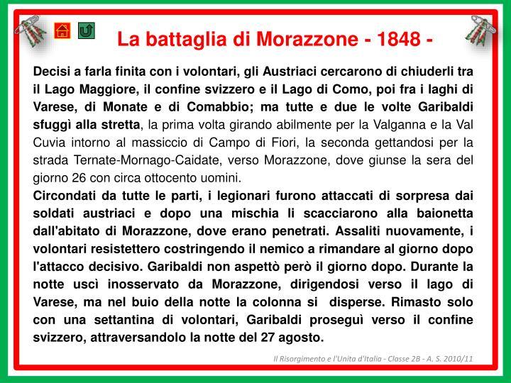 La battaglia di Morazzone - 1848 -