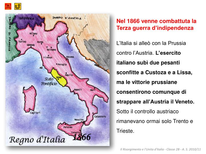 Nel 1866 venne combattuta la Terza guerra d'indipendenza