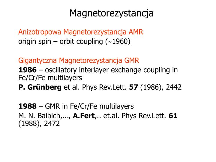 Magnetorezystancja