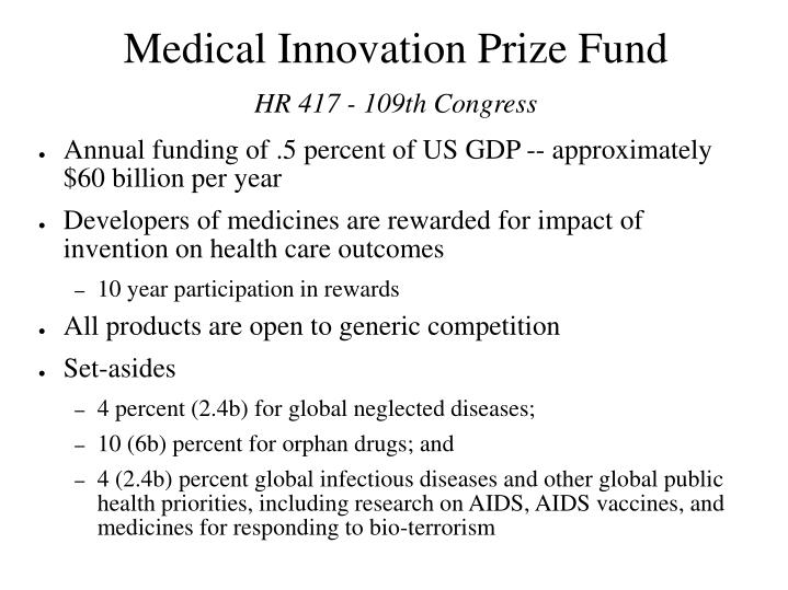 Medical Innovation Prize Fund