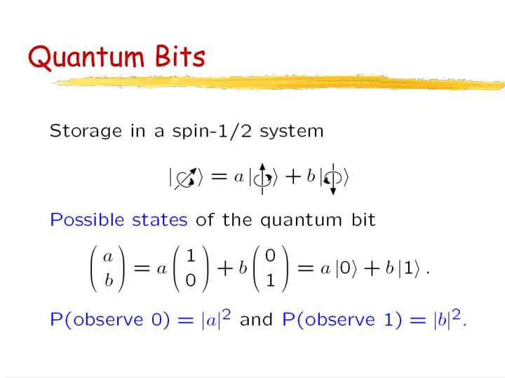 Quantum Bits