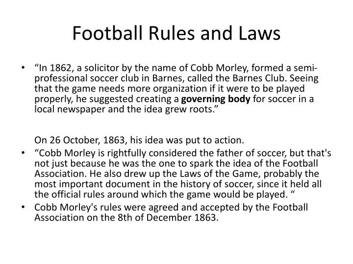 Football Rules and Laws