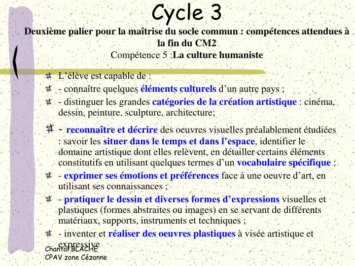 Cycle 3