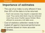 importance of estimates