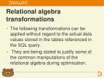 relational algebra transformations