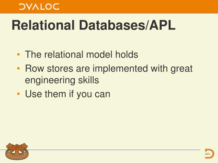 Relational Databases/APL