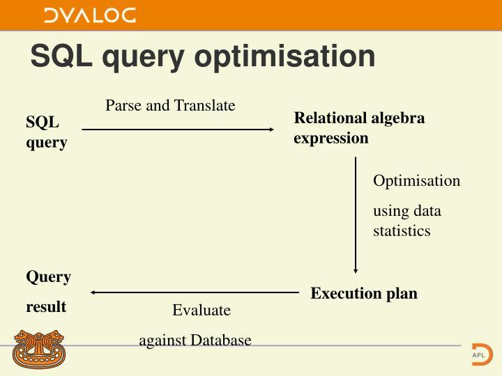 SQL query optimisation