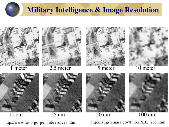 Military Intelligence & Image Resolution